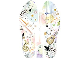 グラフィックインソール SOKO(ワンダーランド:ミュージック)音楽・楽器・中敷・消臭・抗菌・インソール・コルク・riccoの画像