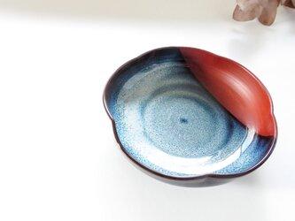 :無名異焼の小鉢:梅・ブルーの画像