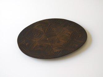 【一点物】楕円平皿/ (M/carving plate:5860)の画像