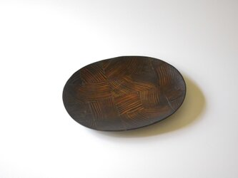 【一点物】楕円平小皿 / (S/carving plate:5875)の画像