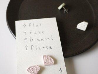 Flat Fake Diamond Pierce(ローズ)の画像