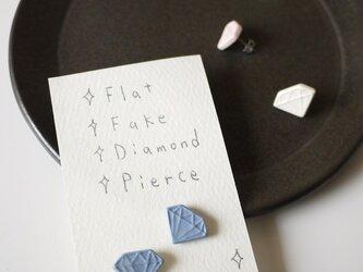 Flat Fake Diamond Pierce(マリン)の画像