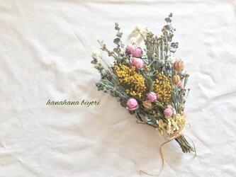 ミモザとミニ薔薇のブーケ・スワッグの画像