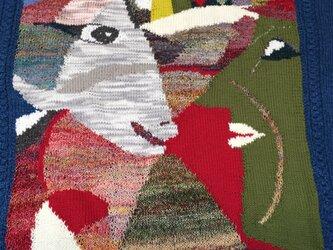 手編み 綿カーディガン(男女フリー)の画像