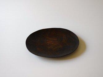 【一点物】楕円平小皿 / (S/carving plate:5865)の画像