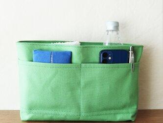グリーン 倉敷産帆布使用バッグインバッグ【受注製作】の画像