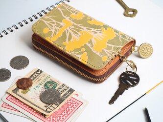 キーウォレット [ ミニ 財布 + キーケース ](ピュア イモーテル)牛革 コンパクトの画像