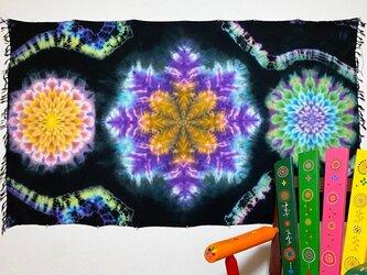 タイダイ染め タペストリー Hippies Dye最新作  曼荼羅 HD13-32の画像