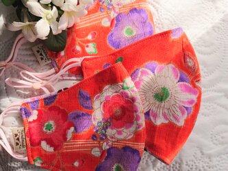 春色・和柄の布マスク『春の声』の画像