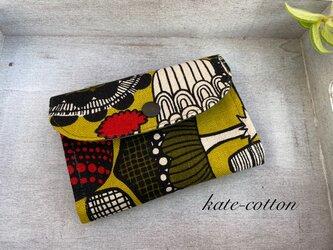 ■ミニ財布⭐︎北欧風・きのこ柄☆マスタードの画像