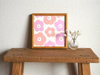 「popy(ピンク&ライラック)」20cm角ポスターの画像
