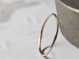 鏡面 PGPピンクゴールドプレーンリング 1.0mm幅 ミラー|PGP RING|421の画像