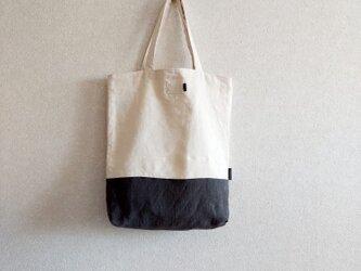 シンプルトートbag 墨くろの画像