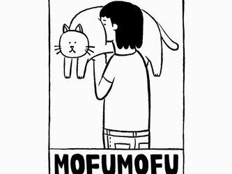 猫のおなかモフモフ 女子【 猫 選べます Tシャツ 】の画像