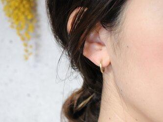 フープピアス きゃしゃ S × 片耳用 真鍮製の画像