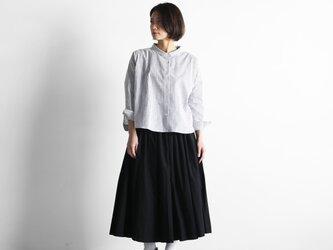 やわらかコットンロングスカート(ブラック)【レディス】U402の画像