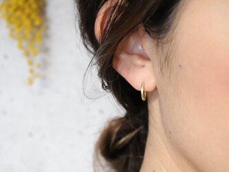フープピアス きゃしゃ SS × 片耳用 真鍮製の画像