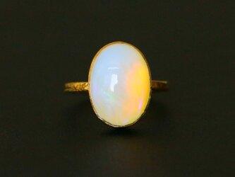 古代スタイル*天然オパール 指輪*7号 GPの画像