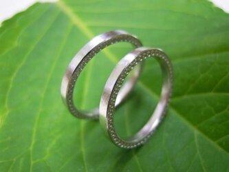 ハンドメイド結婚指輪☆粗仕上げ&両サイド・ミル打ちの画像