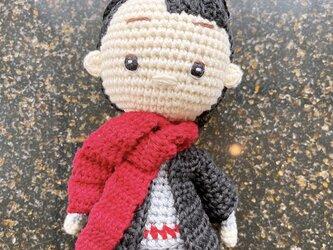 あみぐるみ 人形 ニットトイ ドール 編みぐるみ プレゼント 出産祝い 男の子 お部屋飾り 手編み 衣装着せ替えの画像