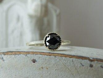限定 K10ローズカットブラックダイア0.45ctのリングの画像