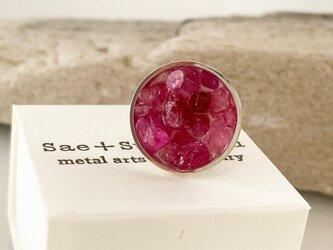 桜色の宝石箱◇ピンクスピネル原石Jewelry Box◇シルバー ピンブローチの画像