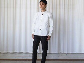 オーガニックコットンバンドカラーコットンシャツ(アイボリー)【ユニセックス】size3の画像
