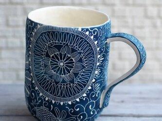青いマグカップ(特大)の画像