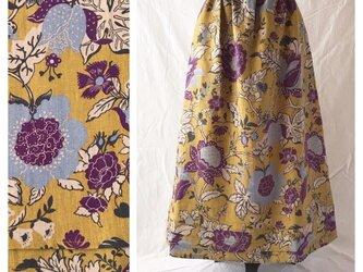 レディのためのシンプルAラインスカート(フレンチシノワ:マスタード)の画像