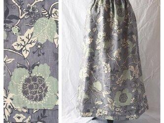 レディのためのシンプルAラインスカート(フレンチシノワ:グレイッシュパープル)の画像