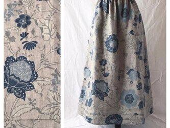 レディのためのシンプルAラインスカート(フレンチシノワ:ブルー)の画像