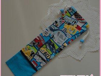 鍵盤ハーモニカホース用の巾着*トミカ柄*男の子用*送料無料の画像