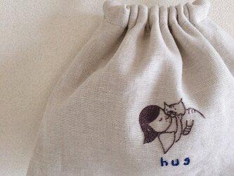 おさんぽ巾着 hugの画像