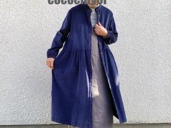 リネン制作OK&カラーが選べる◆切り替えギャザー羽織りワンピースの画像