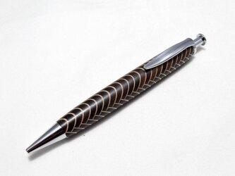 【寄木】魚鱗模様 手作り木製ボールペン パーカー替芯の画像