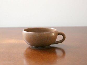マットブラウンの釉薬 プチスープカップの画像