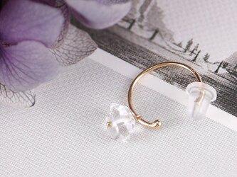 #820 K10 ハーキマーダイヤモンドのイヤーカフ・ミニフープピアス(片耳)の画像