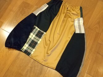 週末セール!ウールパッチワーク大人バルーンスカートの画像