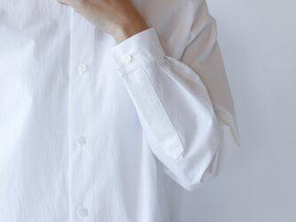 air tumbler cotton shirt/whiteの画像