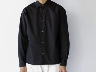 air tumbler cotton shirt/blackの画像