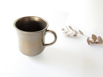 :無名異焼のマグカップ:黄金(槌目風)の画像
