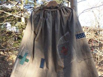 柿渋スカート ●85センチ丈●の画像