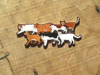 7にゃんの猫さん達のブローチ(USBメモリチャーム)の画像