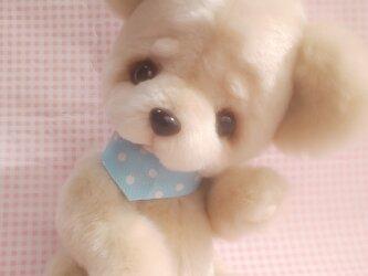ふわふわぬいぐるみ☆フェイクムートン☆ベア☆ミルクベージュ☆Sの画像