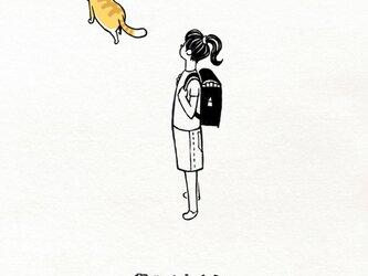 帰り道にネコ 女子【 Tシャツ 】の画像