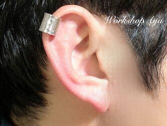 メンズにも!! シルバー950のイヤーカフ(幅広タイプ・片耳用)の画像