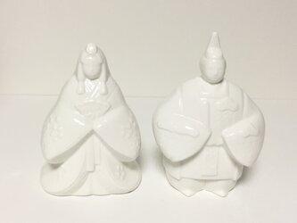 白磁の雛人形1対の画像