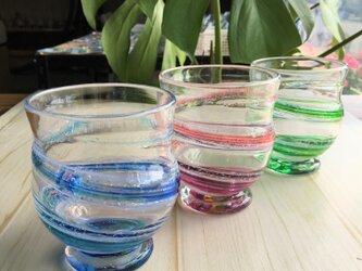 色雲母グラス ギフトラッピング無料の画像