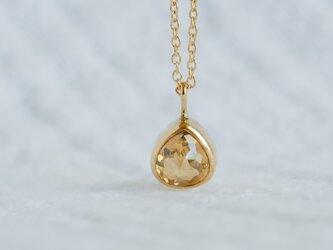 Golden Drop Diamond Necklaceの画像