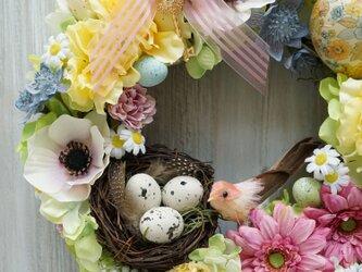 Easter Wreath  25cm(造花)の画像